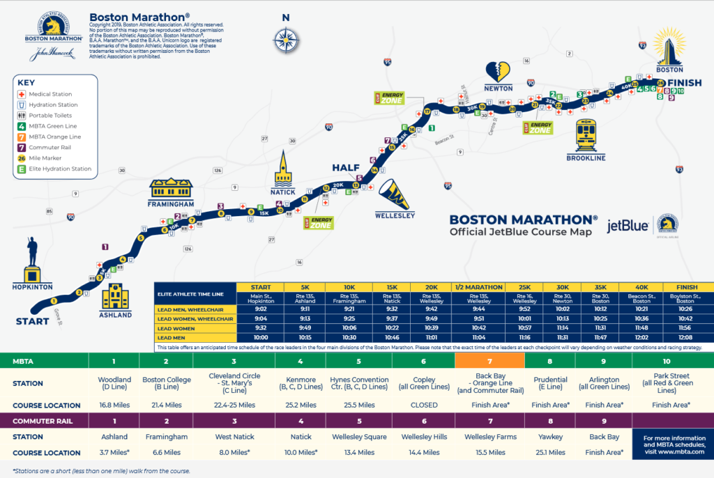 2019_Boston_Course Pocket Guide Map with T- Stops